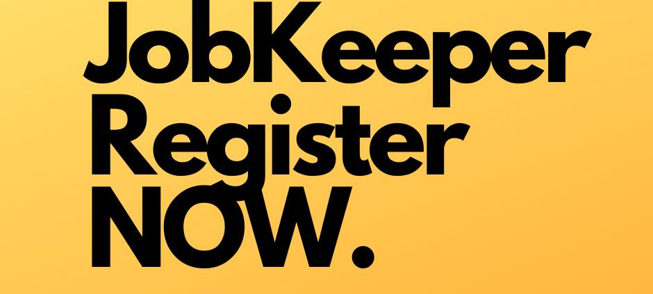 Register for JobKeeper now